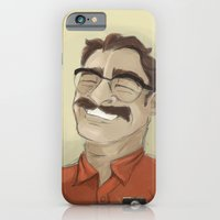 iPhone & iPod Case featuring Portrait of Joaquin Phoenix from the movie Her by Silent K Design