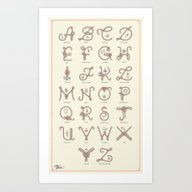 Art Print featuring Ahoy! Alphabet by Lorena G