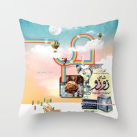 Insta Groove Throw Pillow