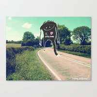 I Love Open Roads Canvas Print