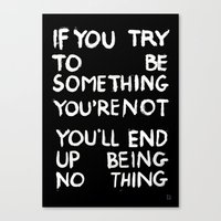 BEING NOTHING 2 Canvas Print