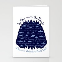 The Sermon to the Sharks Stationery Cards