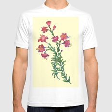 Summer Flowers Mens Fitted Tee White SMALL