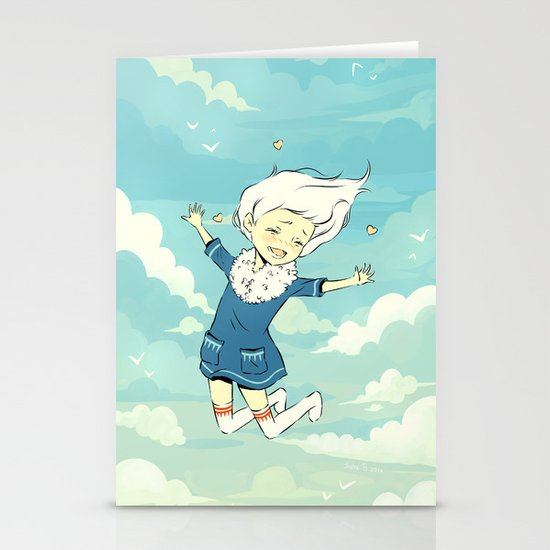 Spring Sky Stationery Card