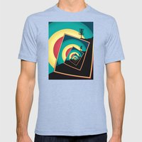 Spinning Disc Golf Baske… Mens Fitted Tee Tri-Blue SMALL