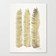 Golden Seaweed Canvas Print