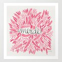 Pardon My French – Pink Art Print