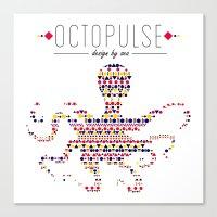Octopulse | Design by sea Canvas Print