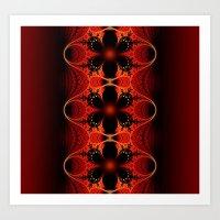 Floral Ribbon Art Print