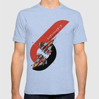 Raiden Fighters Mens Fitted Tee Tri-Blue SMALL