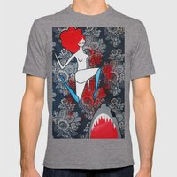 shark dreams Mens Fitted Tee Tri-Grey SMALL