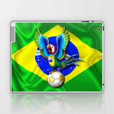Brazil Macaw Parrot with Soccer Ball Laptop & iPad Skin