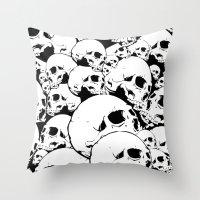 Skull Pile 2 Throw Pillow