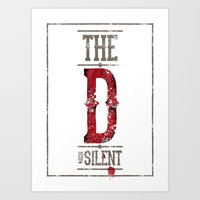 Django - The D is silent Art Print