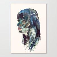 Water Head Canvas Print