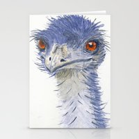 emu watercolour Stationery Cards