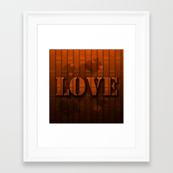 LOVE!  Framed Art Print