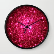 Wall Clock featuring Glitter by 2sweet4words Designs