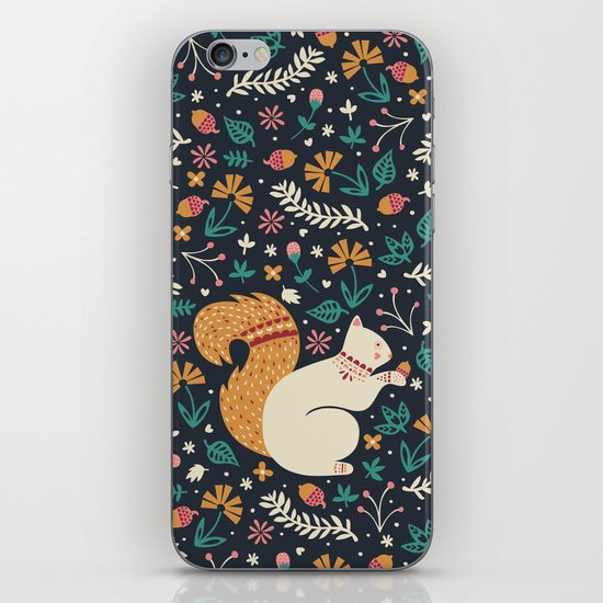 Merry Little Squirrel  iPhone & iPod Skin