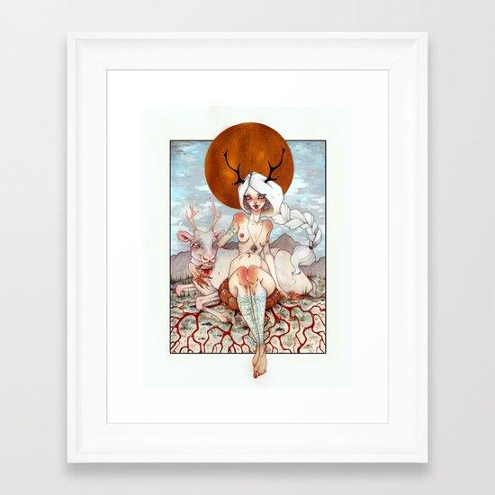 Beaivi Framed Art Print