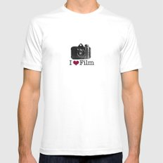 I ♥ Film Mens Fitted Tee White SMALL