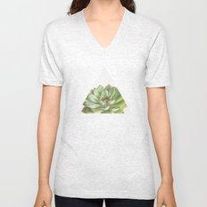 Green Succulent Unisex V-Neck