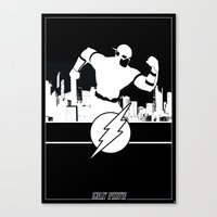 Flash Silhouette Black &… Canvas Print