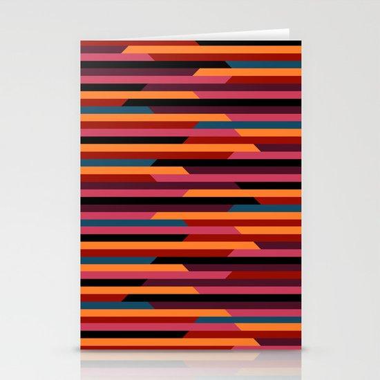 Geometric stripes Stationery Card