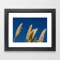 A soft breeze, against a cobalt sky. Framed Art Print