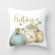 Throw Pillow featuring Autumn Pumpkins  by Craftberrybush