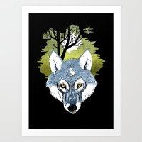 Wolf Phase Art Print