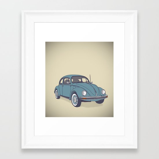 VW Beetle Framed Art Print