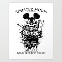 Sinister Minds. Mickey Art Print