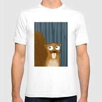 Beaver Mens Fitted Tee White SMALL