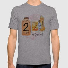An Old Fashioned Cocktail Mens Fitted Tee Athletic Grey SMALL