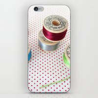 Silk Thread Spools iPhone & iPod Skin