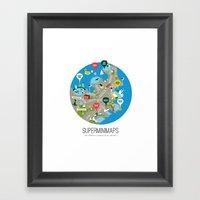 Sydney Swimming Spots Mi… Framed Art Print