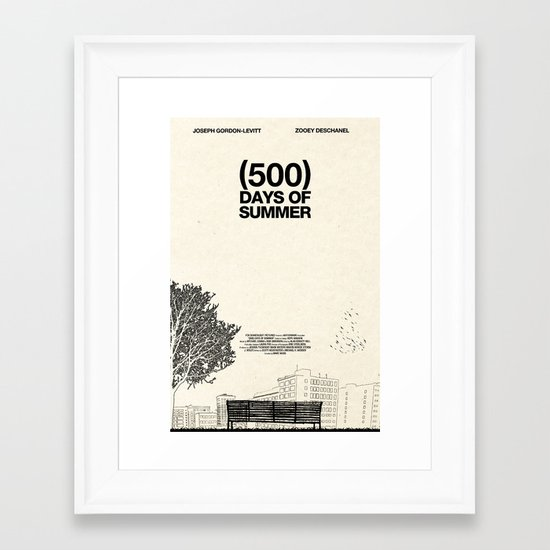 (500) Days of Summer Framed Art Print