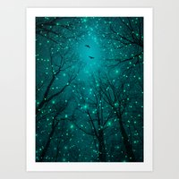 geometric Art Prints featuring One by One, the Infinite Stars Blossomed by soaring anchor designs
