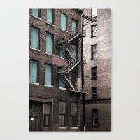 Teal & Brick Canvas Print