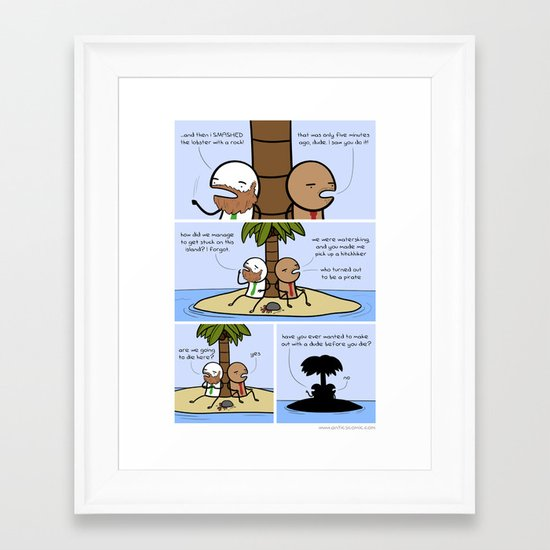 Antics #094 - die-curious Framed Art Print
