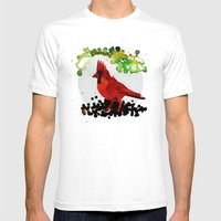 Angry Bird Mens Fitted Tee White SMALL