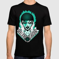 Thunder Dames Shirt Black Mens Fitted Tee SMALL