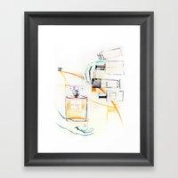 The C Perfume Framed Art Print