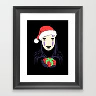 Kaonashi's Trap! Framed Art Print