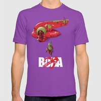 BobAkira (red With White… Mens Fitted Tee Ultraviolet SMALL