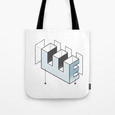 The Exploded Alphabet / E Tote Bag