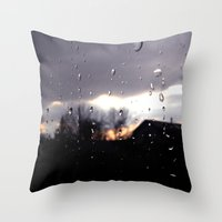 just like raindrops Throw Pillow