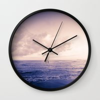 Calm Day Ver.violet Wall Clock