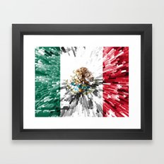 Mexico Flag - Extrude Framed Art Print